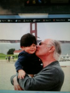 Fred Messreni with his grandson Isaac